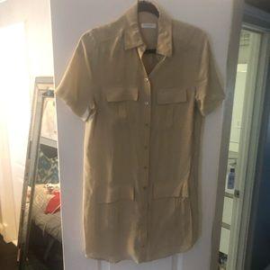 Equipment short sleeve blouse dress